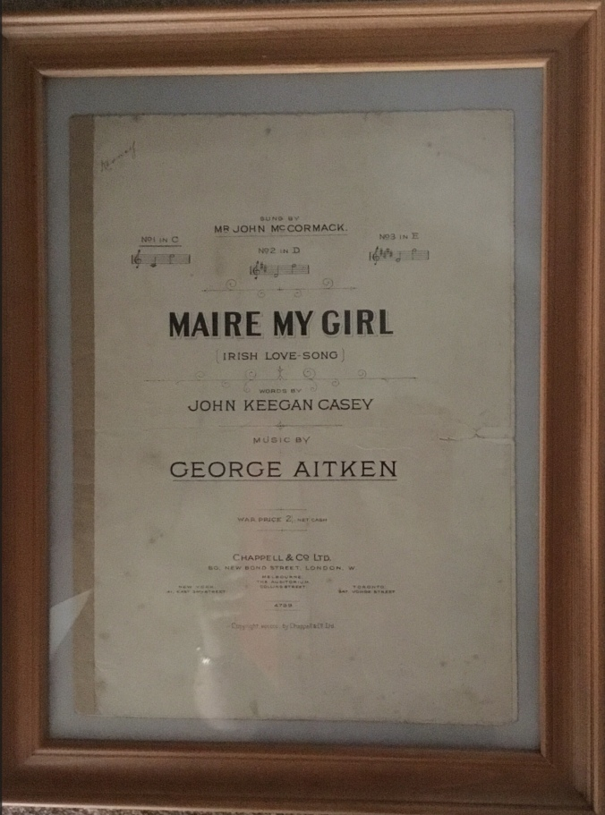 Maire my Girl, sheet music