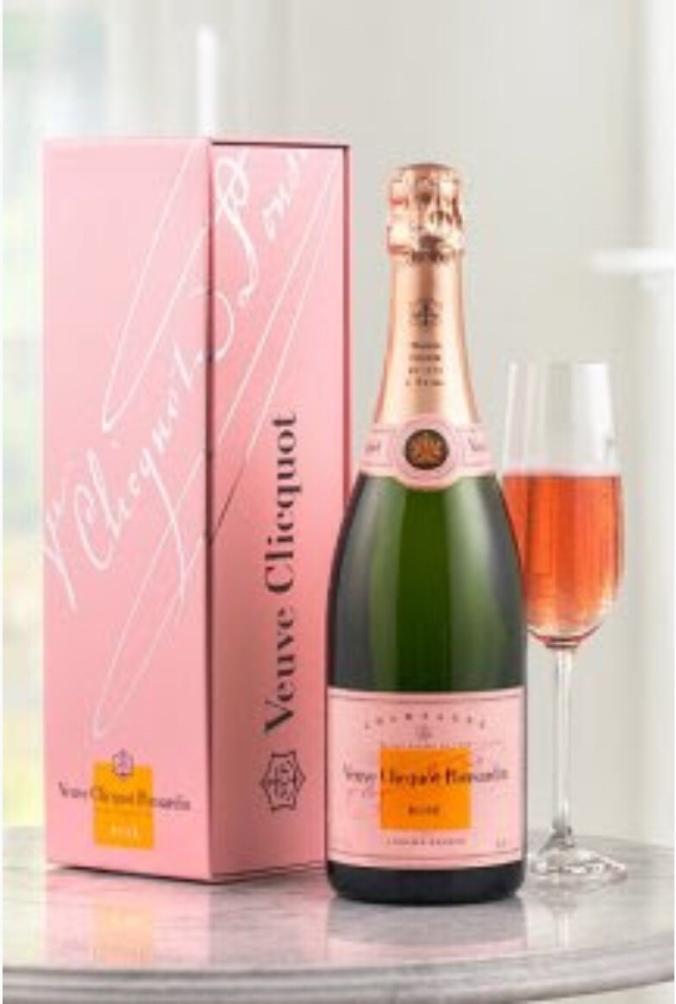 Verve Cliquot pink Champagne