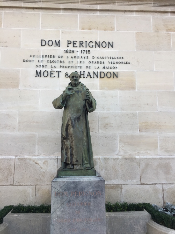 Dom Perignon, said to be the creator of champagne